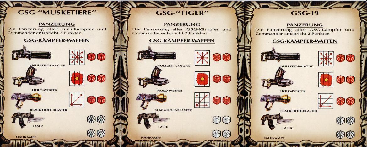 Bitz Space Crusade Starquest GSG Tiger Kämpfer Nullzeit Kanone Bits